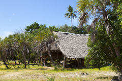 Hut on Funzi island in Kenya Stock Photo