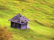 Hut in grass Royalty Free Stock Images