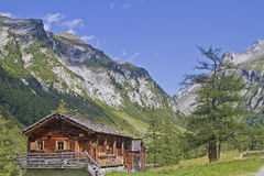 Hut in the High Tauern Stock Photos