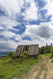 Hut on hiking path Stock Images