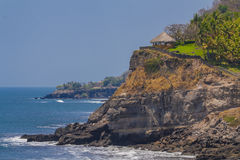Hut on a hill at the beach in El Salvador Royalty Free Stock Photos