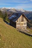 Hut on a hillside. Royalty Free Stock Photos