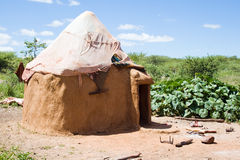 Hut of a Himba tribe Royalty Free Stock Photos
