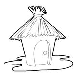 Hut icon, outline style Royalty Free Stock Photos