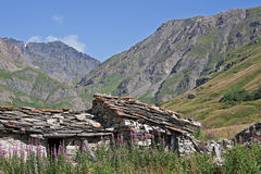 Hut idyll in Savoie Royalty Free Stock Photography