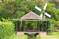 Hut In The Garden Of Thai Royalty Free Stock Photo
