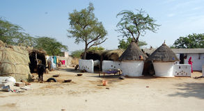 Hut of indian village Stock Image