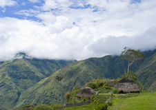 Hut in an Indonesian mountain village royalty free stock photography
