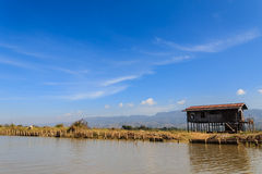 Hut ,  inle lake in Myanmar (Burmar) Stock Photography