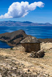 Hut on Isla del Sol in Lake Titicaca, Bolivia Royalty Free Stock Photography