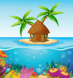 Hut on Island Stock Photography