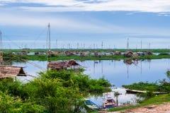 Hut on lagoon Stock Photography