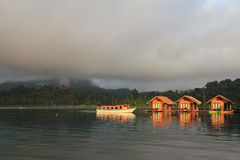 The Hut in Lake Khao Sok national park. Stock Photo