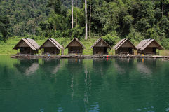 The Hut in Lake Khao Sok national park. Stock Image