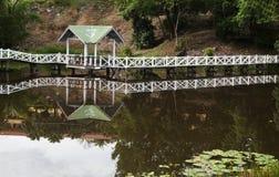 Hut by a lake Royalty Free Stock Image