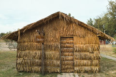 Hut made of nipa palm leaves. The hut made of nipa palm leaves for planting mushroom royalty free stock photos