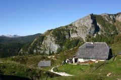 Hut made of wooe Stock Image