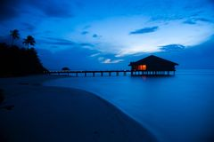 Hut in Maldives Royalty Free Stock Photography
