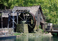 Hut and mill in disneyland Stock Photos