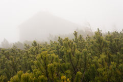 Hut in the mist Royalty Free Stock Photography