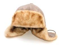 Hut mit Ohrabdeckstreifen Stockbild