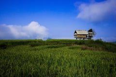 Hut on the mountain blue sky Royalty Free Stock Photos
