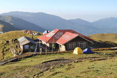 Hut In Mountain. Stock Image