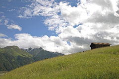 Hut in a mountain region Royalty Free Stock Photography