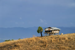 Hut on mountain Royalty Free Stock Photography