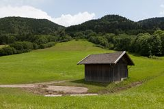 Hut in the mountains Stock Photography