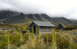 Hut in the mountains Stock Photos
