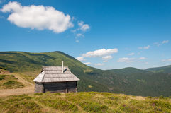 Hut in the mountains Stock Photo