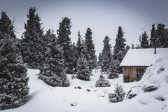 Hut in the mountains Royalty Free Stock Photography