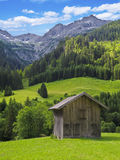 Hut in the mountains Royalty Free Stock Image