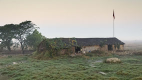 Hut Myanmar. Barn with cows in the province of Myanmar Royalty Free Stock Photo
