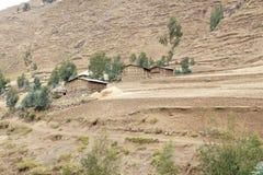 Hut of natives near Ambikwa camp, Simien mountains Royalty Free Stock Photography