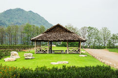 The hut and nature. The old hut and beautiful nature Royalty Free Stock Image