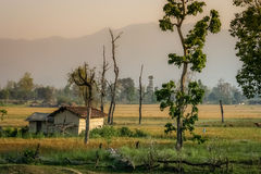 Hut in nepalese countryside Royalty Free Stock Photography