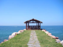 Hut by Ocean Royalty Free Stock Image
