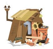 Hut Of The Beggar Stock Photography