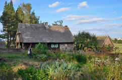 Hut in open-air museum in Olsztynek (Poland) Royalty Free Stock Photo