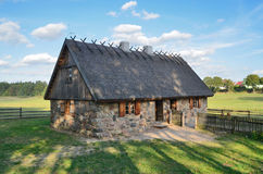 Hut in open-air museum in Olsztynek (Poland) Royalty Free Stock Photos