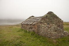 Hut on an Orkney island Stock Photos