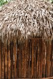 Hut palapa mexican jungle Mayan house roof wall. Detail Stock Image