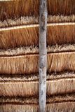 Hut palapa traditional sun roof wiev from above Royalty Free Stock Photos