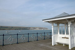 Hut on Pier at Swanage Royalty Free Stock Images