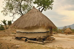 Hut of the poor natives, Mozambique Royalty Free Stock Photo