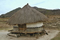Hut of the poor natives, Mozambique Stock Photography