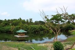 Hut on River in Batangas, Philippines Stock Photography
