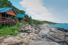 Hut on the rock in samet  thailand. Stock Photos